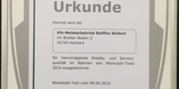 Seibert Dekra-Urkunde